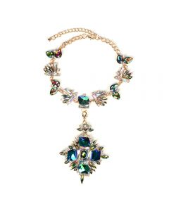 Luxury gemstone vintage necklace