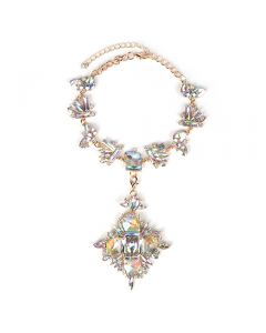 Luxury gemstone vintage necklace-Silvery
