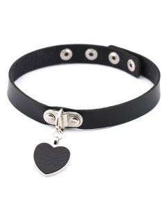 Peach heart punk collar