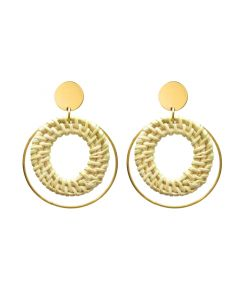 Hand-woven round earrings