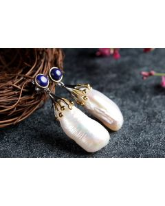 Natural Baroque Pearl Large Drops Earrings