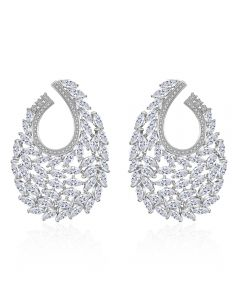 Zircon luxury temperament earrings