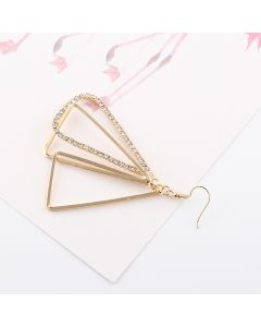 Geometry three-dimensional triangle hollow earrings