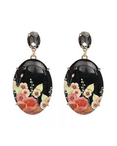 JAN new resin printed earrings, retro new earrings accessories