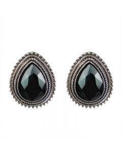 Super flash water drop diamond vintage stud earring