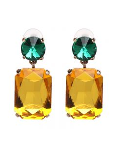 Zircon Earrings European and American Wind alloy drill Earrings